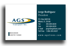 AGS business card