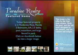 paradise realty flash site